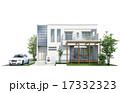 一軒家 戸建住宅 外観のイラスト 17332323
