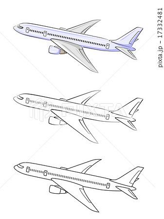 飛行機旅客機のイラストのイラスト素材 17332481 Pixta