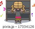 アップライトピアノをひく女性 17334126