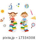 色々な本を読む子供 17334308
