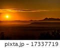 釧路湿原 夕焼け 夕日の写真 17337719