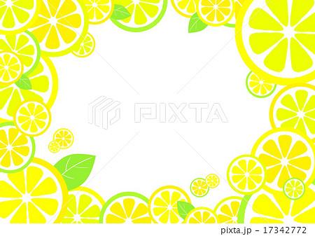 レモンフレームのイラスト素材 17342772 Pixta