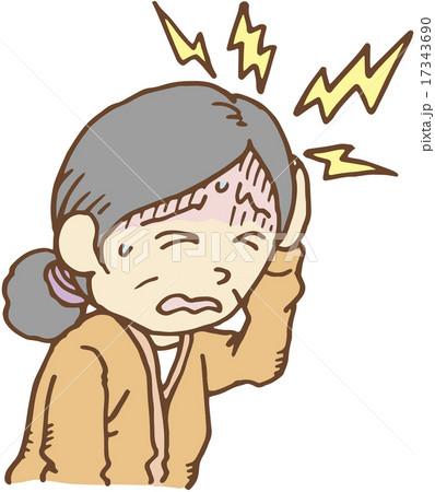 頭痛がする女性 17343690