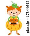 かぼちゃ 仮装 ベクターのイラスト 17344642