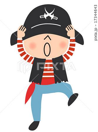 海賊の仮装をした子供のイラスト素材 17344643 Pixta