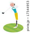 ゴルフをする女性 17344953