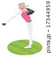ゴルフをする男性 17344959
