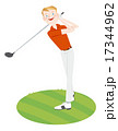 ゴルフ ゴルファー ミドルのイラスト 17344962