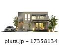 外観 戸建住宅 一軒家のイラスト 17358134