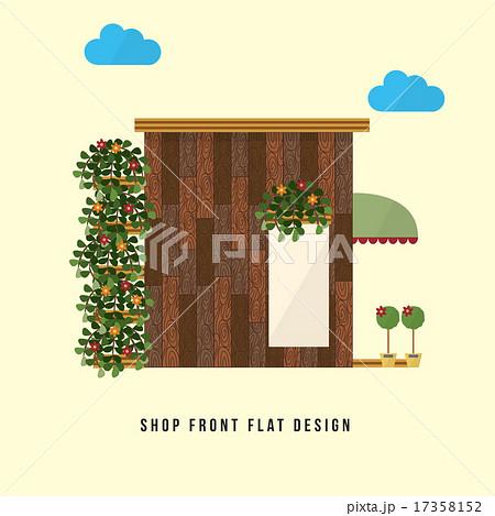 Shop front flat design のイラスト素材 [17358152] - PIXTA