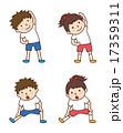 体育 準備運動 準備体操のイラスト 17359311