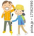 ハイキング 夫婦 トレッキングのイラスト 17362990