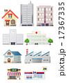 住宅や施設などの建物のイラスト 17367335