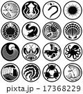 魚貝類のアイコン・マーク・紋章・家紋 17368229
