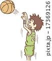 バスケットをする人 17369126