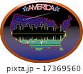 アメリカ 地図と摩天楼 17369560