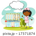 Nurse standing in front of hospital 17371874