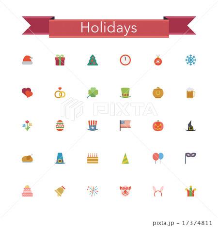 Holidays Flat Icons 17374811