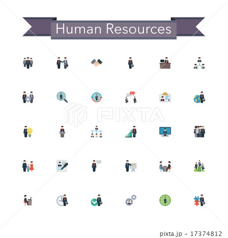Human Resources Flat Icons 17374812