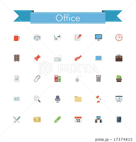 Office Flat Icons 17374815