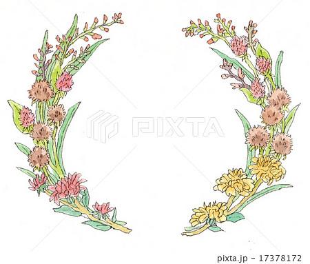 花のリース カラーのイラスト素材 17378172 Pixta