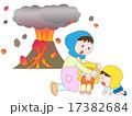 山の噴火で緊急避難 17382684