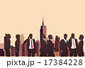 Silhouettes of business people 17384228