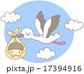 コウノトリと赤ちゃん 17394916