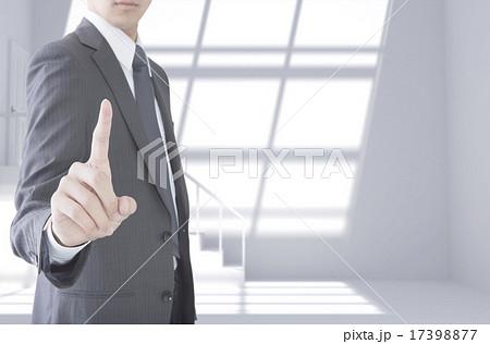 指を指すビジネスマンイメージ CG 17398877