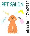 プードル サロン 犬のイラスト 17402542