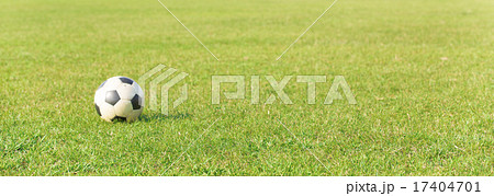 芝生の上のサッカーボール 17404701