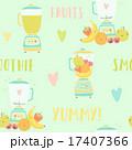 ミキサー スムージー ジュースのイラスト 17407366