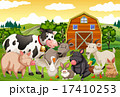 Farm animals in the farm 17410253