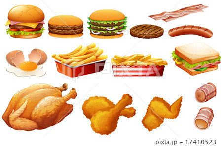 Fastfood in various types 17410523