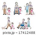 おじいさんと家族 17412488