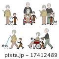 おじいさん 高齢者 ベクターのイラスト 17412489