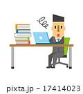 仕事量が多いビジネスマン【フラット人間・シリーズ】 17414023