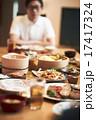 団らん 盛りつけ 和食の写真 17417324