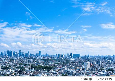 東京・住宅街と新宿副都心 17423449