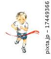 走る男の子、徒競走 17449366