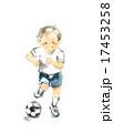 走る男の子、サッカー 17453258