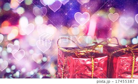 gift box and heart bokeh lights 17455387