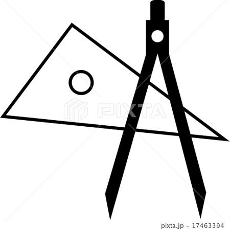 三角定規とコンパスのイラスト素材 17463394 Pixta