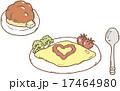 洋食の朝ご飯 17464980