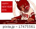 2016年賀状_お猿のDJ_文字無し 17475561