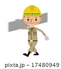 建材を運ぶ土木作業員 17480949