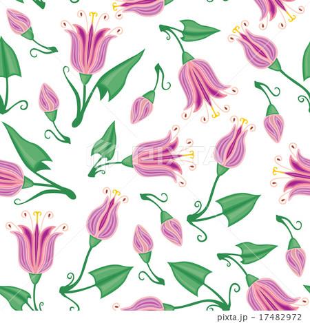 Pink flowers seamless patternのイラスト素材 [17482972] - PIXTA