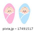 おくるみ 新生児 男の子のイラスト 17491517