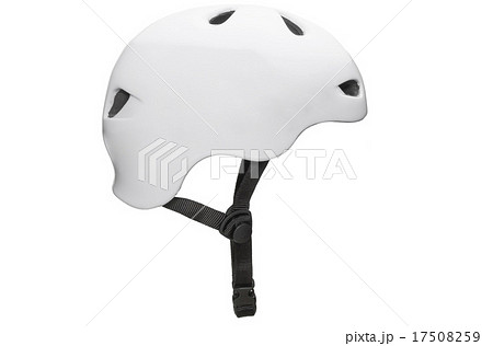 Bicycle mountain bike safety helmet isolated 17508259