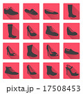 boots and shoes red and gray flat icons eps10 17508453